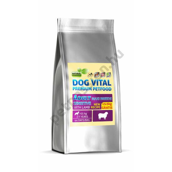 Dog Vital Adult Maxi Breeds Bárány és Rizs 12+3 kg