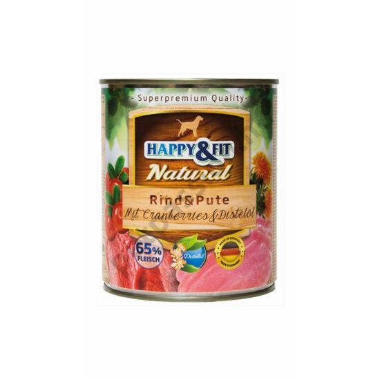 Happy&Fit konzerv marha és pulykahússal, vörösáfonyával