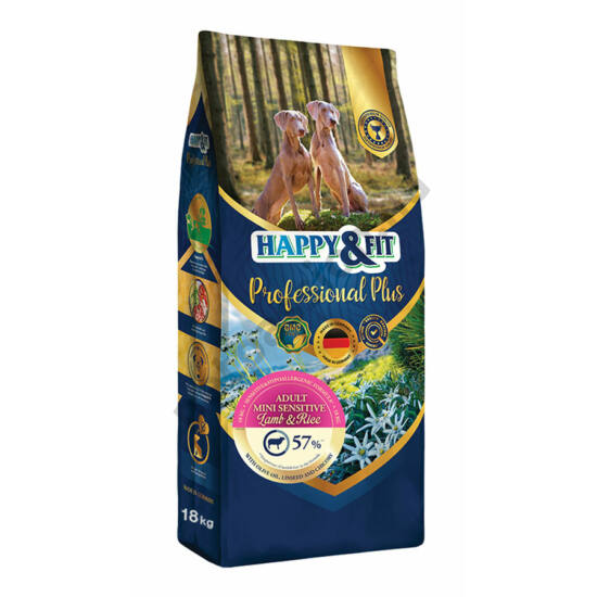 Happy&Fit Professional Plus Mini Sensitive Bárány Rizs 18kg