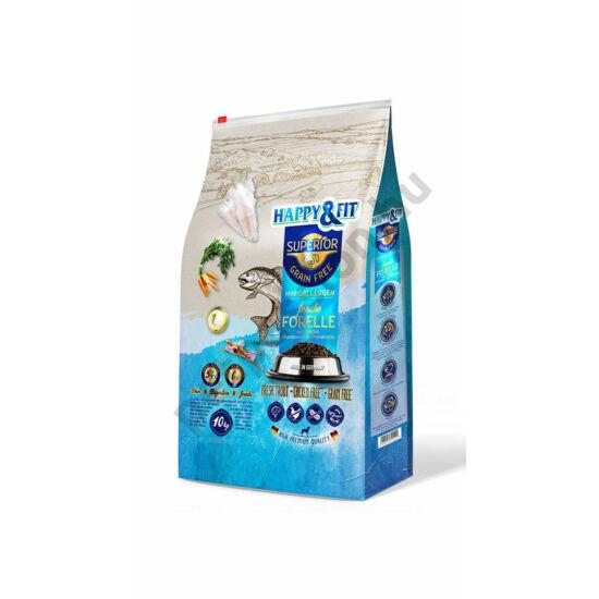 Happy&Fit Superior Grain Free Hypo Friss pisztráng, halolaj, glükozamin és kondroitin