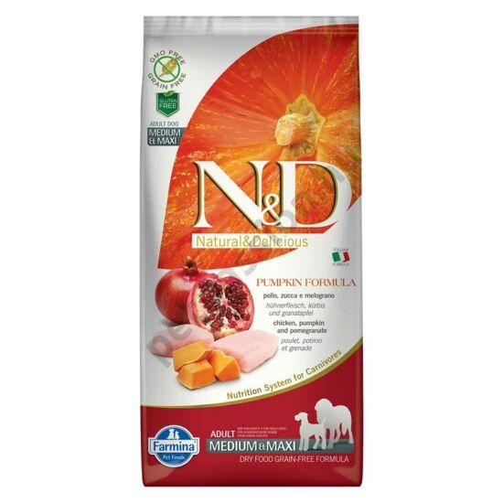 N and D Dog Grain Free Pumpkin Csirke és Gránátalma Adult Medium/Maxi