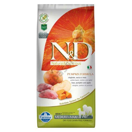 N and D Dog Grain Free Pumpkin Vaddisznó és Alma Adult Medium/Maxi