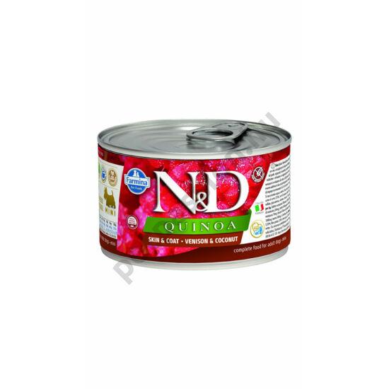 N&D Dog quinoa szarvas kókusszal 140g