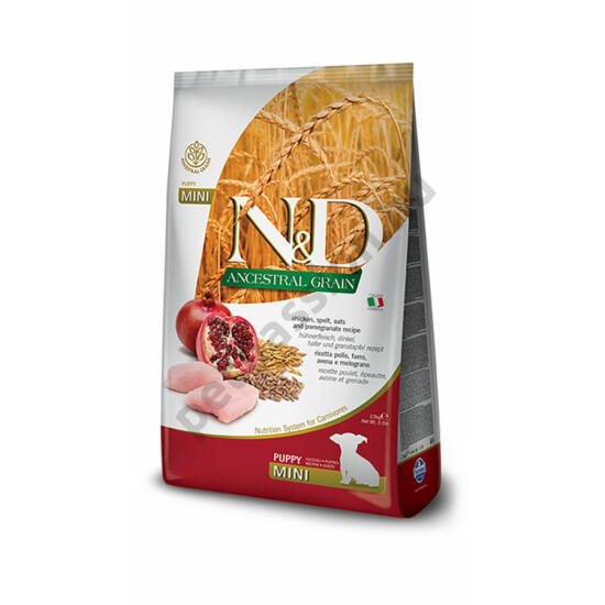 N and D Low Grain Csirke és Gránátalma Puppy Mini 7 kg