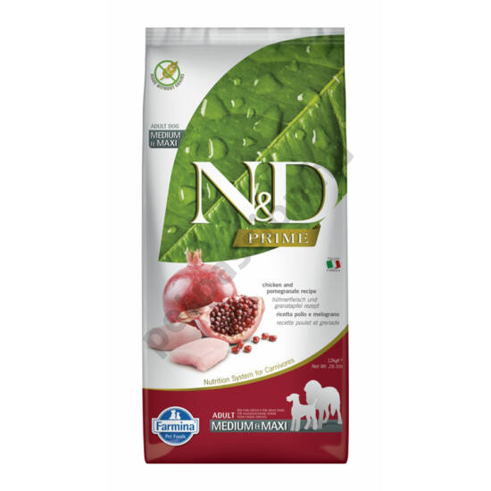 N and D Grain Free Csirke és Gránátalma Adult Medium/Maxi 12 kg
