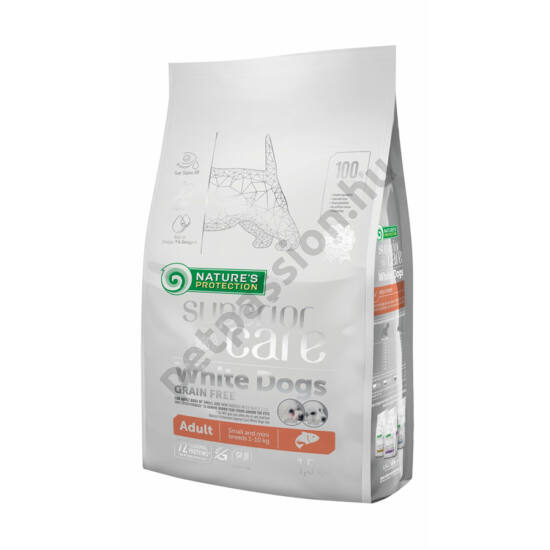 Nature's Protection Superior Care Adult Small Fehér Szőrű Kutyáknak lazaccal 1,5 kg