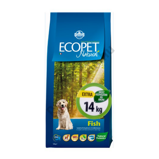 Ecopet Natural Adult Fish Medium 12+2 kg