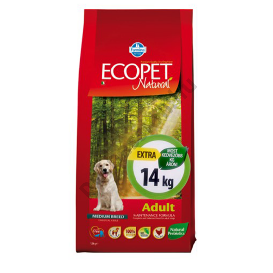 Ecopet Natural Adult Medium 12+2 kg