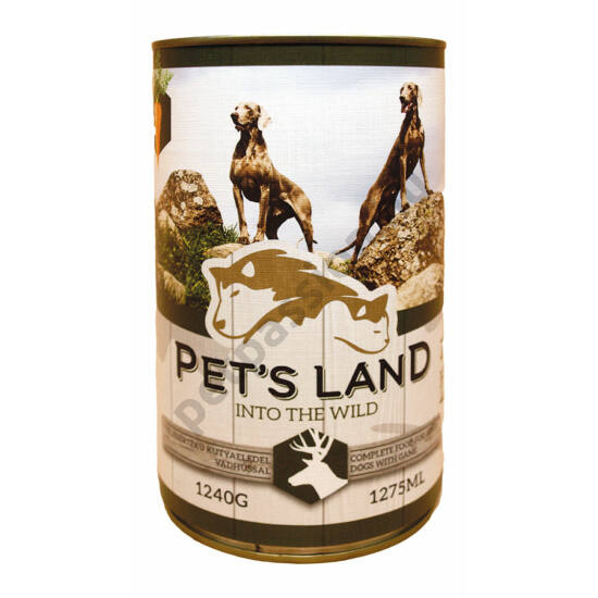 Pet's Land Dog Konzerv Vadhús Répával 1240g