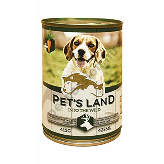 Pet's Land Dog Konzerv Vadhús Répával 415g