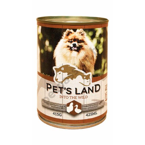 Pet's Land Dog Konzerv Baromfihússal 415g