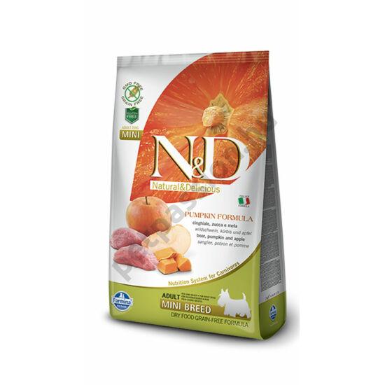 N and D Dog Grain Free Pumpkin Vaddisznó és Alma Adult Mini