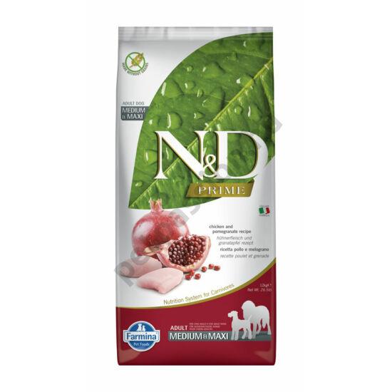 N and D Grain Free Csirke és Gránátalma Adult Medium/Maxi 12 kg