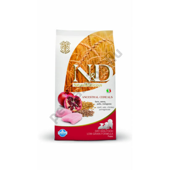 N and D Low Grain Csirke és Gránátalma Puppy Medium12 kg